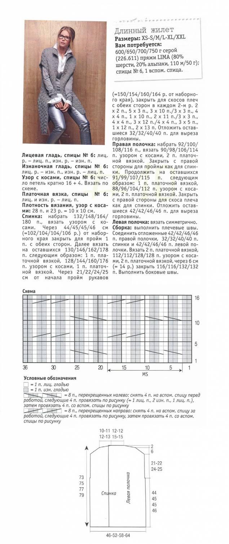 Схема вязания жилетки платочной вязкой